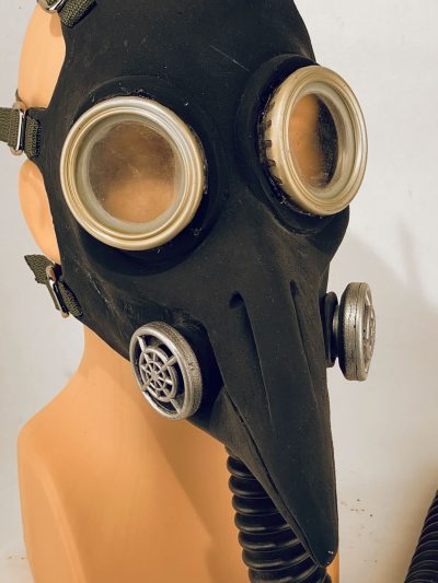 Plague Doctor - gas mask, closeup