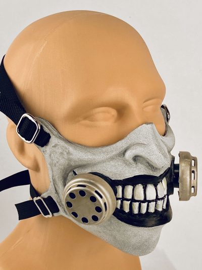 LaughingGas - gas mask, closeup