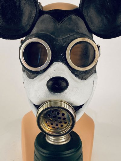 Mouse gas mask, closup