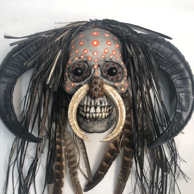 Hell Boy, Tribal - Decorated Skull, close-up
