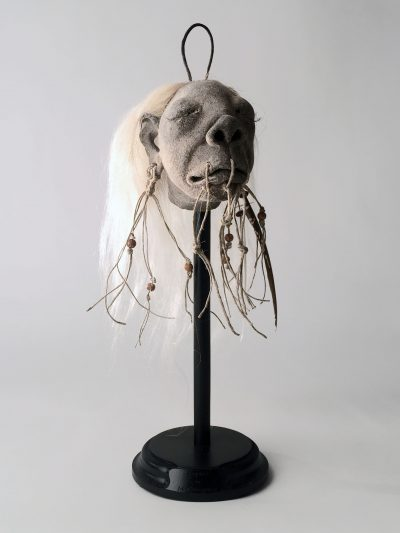 White, Shrunken Head Model (Fallen Warrior)