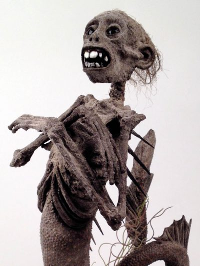 Upright Feejee Mermaid, close-up