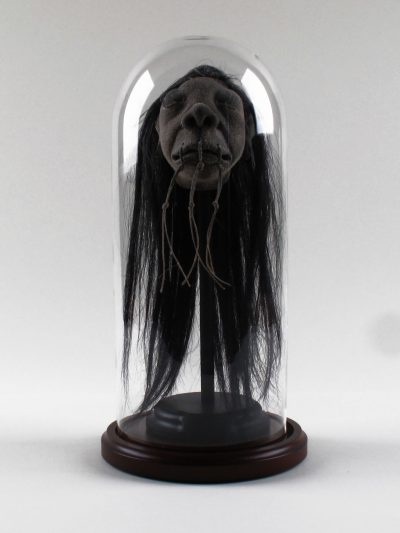 Shrunken Head Model (Fallen Warrior), in dome